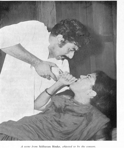 Scene from 'Sakharam Binder' by Vijay Tendulkar, objected to by censors
