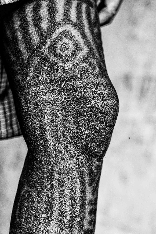 Traditions On Skin Baiga Women And Their Tattoos Sahapedia