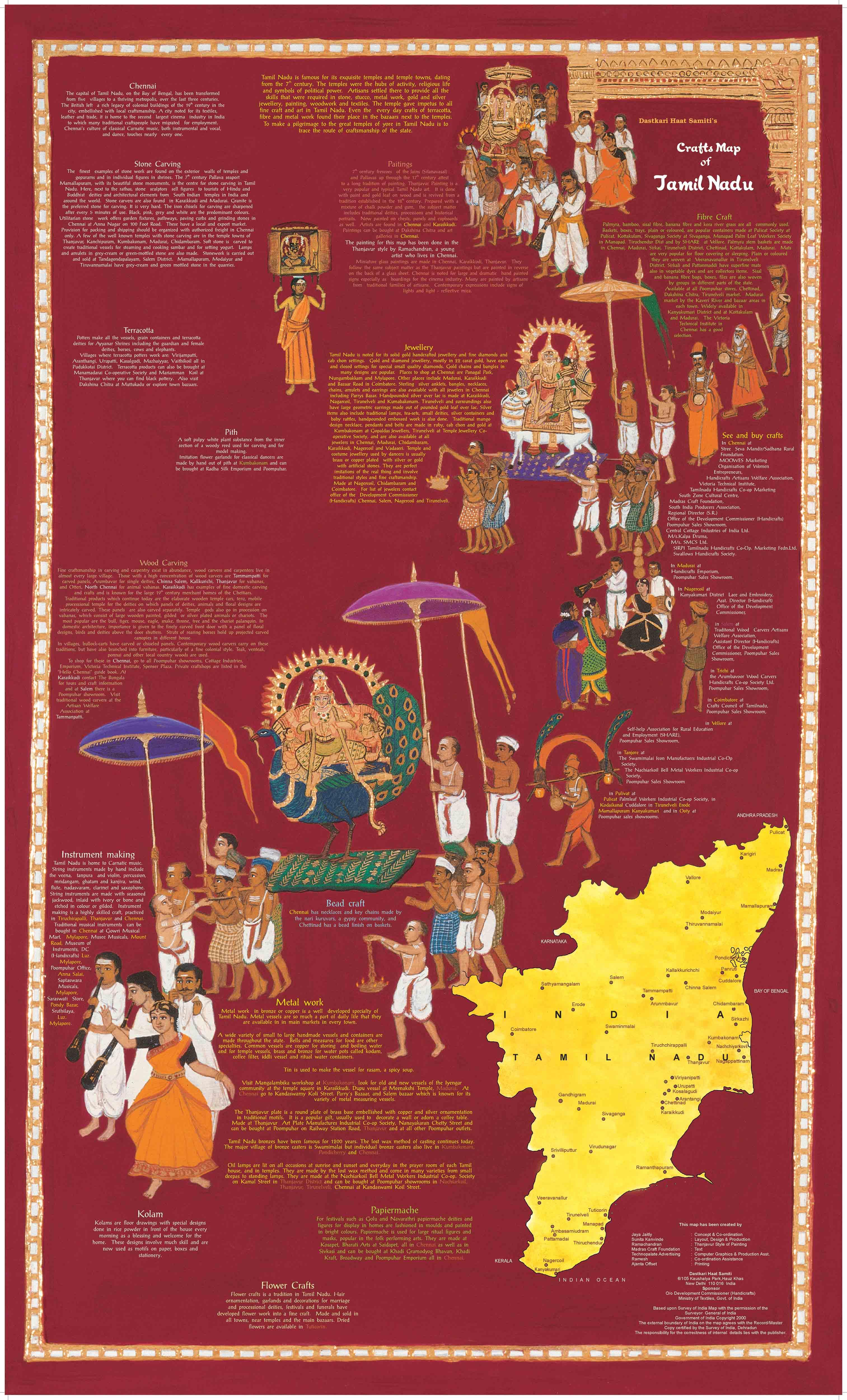 Crafts Map Of India Sahapedia