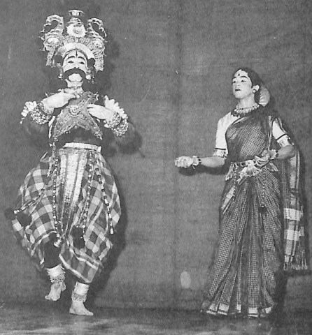 Yakshagana artistes Kamalabhupa and his daughter Rati