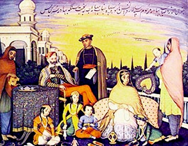 General Allard and his family, Lahore, 1838, Courtesy: The Tribune
