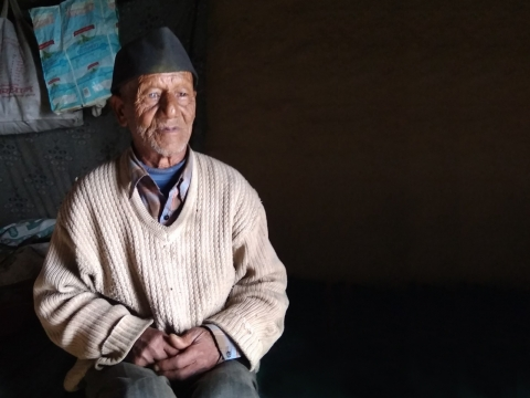 Sajjan Singh Rawat, a jagar singer, has been performing ritualistic folk songs for over five decades in Uttarakhand (Courtesy: Jeet Singh)