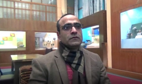 Dr Mohammad Ajmal Shah, assistant professor-cum-curator of the Centre of Central Asian studies, University of Kashmir (Courtesy: Dr Abdul Rashid Lone)