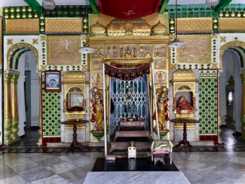 Renovated interiors of Shri Shambhavnath Bhagwan Temple, Jiaganj (Courtesy: Mrinalini Sil)