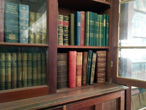 Old Encyclopedias and Dictionaries that are prized parts of the collection at the The Urdu Arts (Evening) College, Urdu Hall Library. (Courtesy: Shefali Jha)