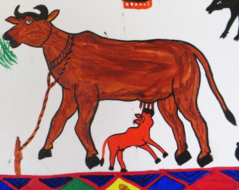 Gai ne Vasdu (cow and her calf)