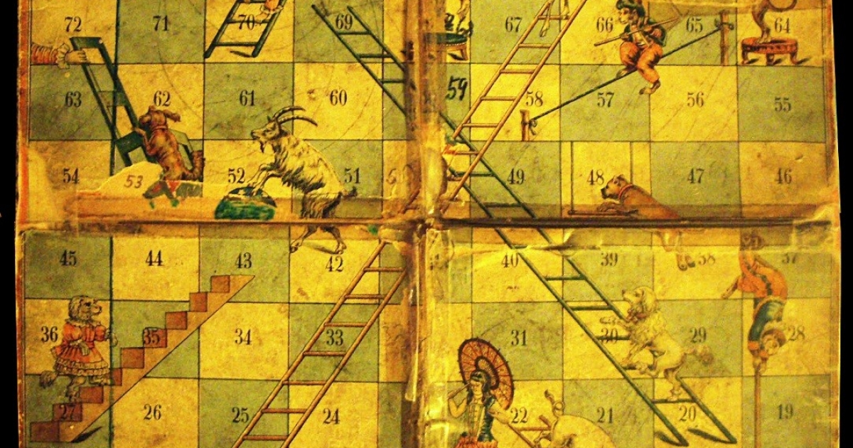 Gyan Chaupar The Game That Became Snakes And Ladders In British India Sahapedia