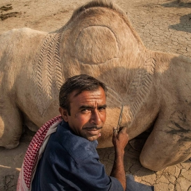 The Great Rann of Kutch is home to itinerant pastoral communities, who though are collectively called maldhari. One such maldhari community are the Fakirani Jats, who live a semi-nomadic life and breed camels. The camels are known as Kharai, a breed which is peculiar to the mangrove ecosystem of Kutch district.