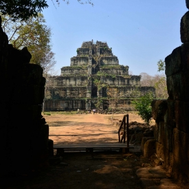 Ancient Chok Gargyar, now known as Koh Ker, served as capital of Angkor for a brief period in the 10th century and was site of a temple complex dedicated to Lord Shiva in the form of Tribhubaneshwara.