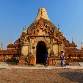 Bagan is the current name of the historic capital city of Pagan, the first Burmese empire, which flourished from the mid-11th to the late-13th centuries, now recognised by UNESCO as a World Heritage Site.