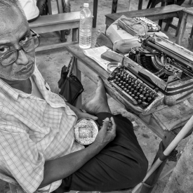 Since the invention of the mechanical typewriter in late 19th century, typing was a much sought after skill for purpose of recordkeeping and writing. Its necessity started dealing with arrival of computers and now the only place where typists still find work are outside Indian courts.