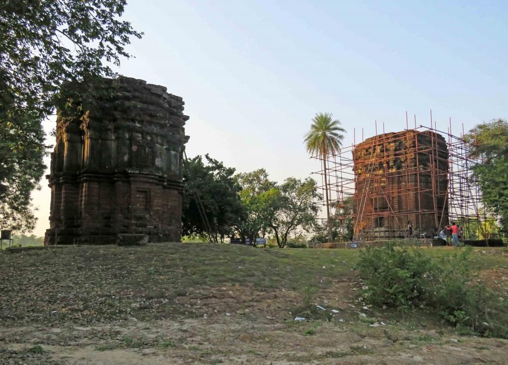 Twin temples of Sandeswar and Shaileswar at Dihar