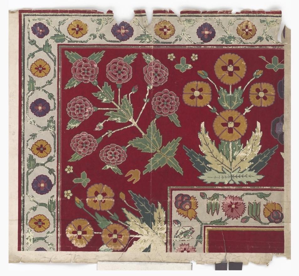 Jail carpets, jail dhurries, india, 'Design', Jaipur, 1900, Courtesy: Victoria and Albert Museum
