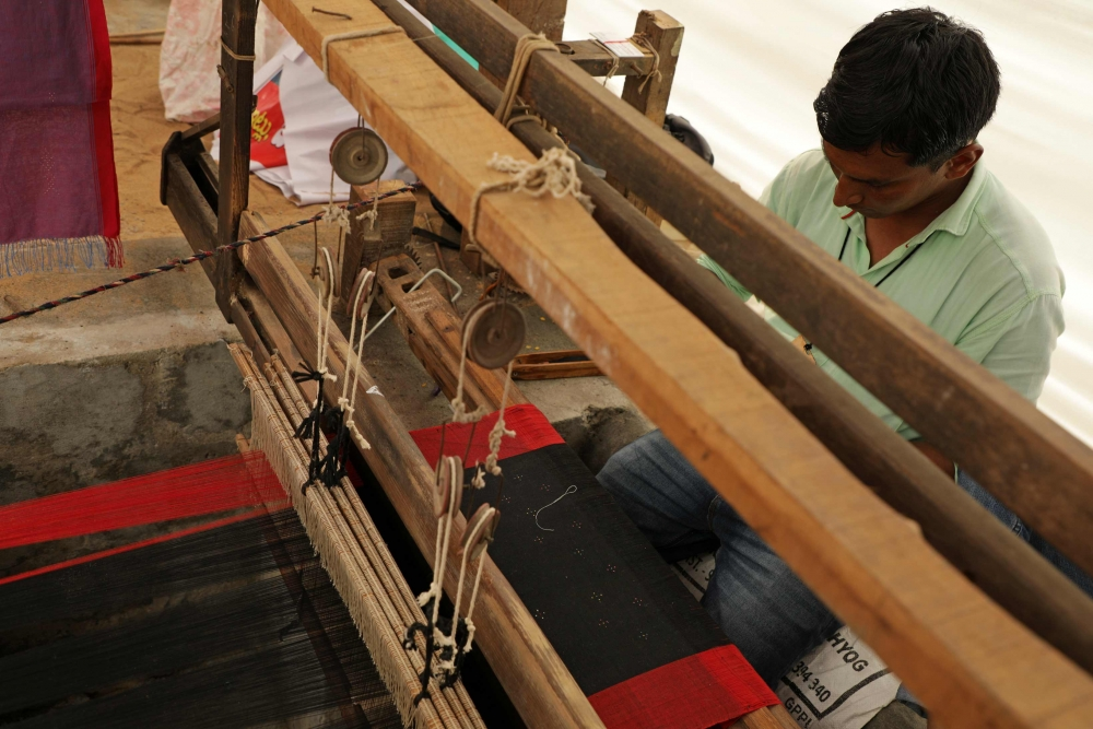 Suresh Vankar at his loom