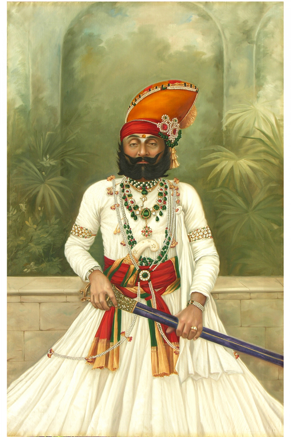 The stunning portrait of Maharaja Takhat Singh (19th century, oil on canvas), Photo courtesy: Mehrangarh Fort Museum via Laura Marsolek, published with permission