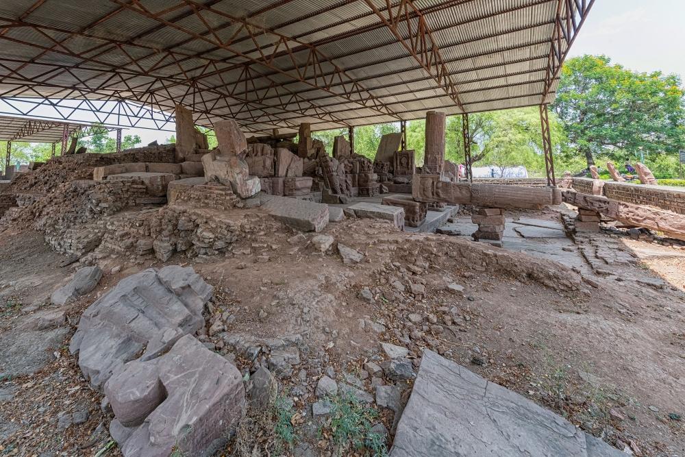 Brick base of the Jethani temple