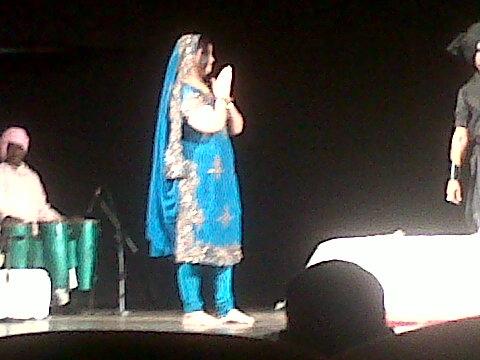 Fig. 15: Madhu Agrawal as the heroine of Sultana Daku, the India Habitat Centre, New Delhi (Courtesy: Deepti Priya Mehrotra)