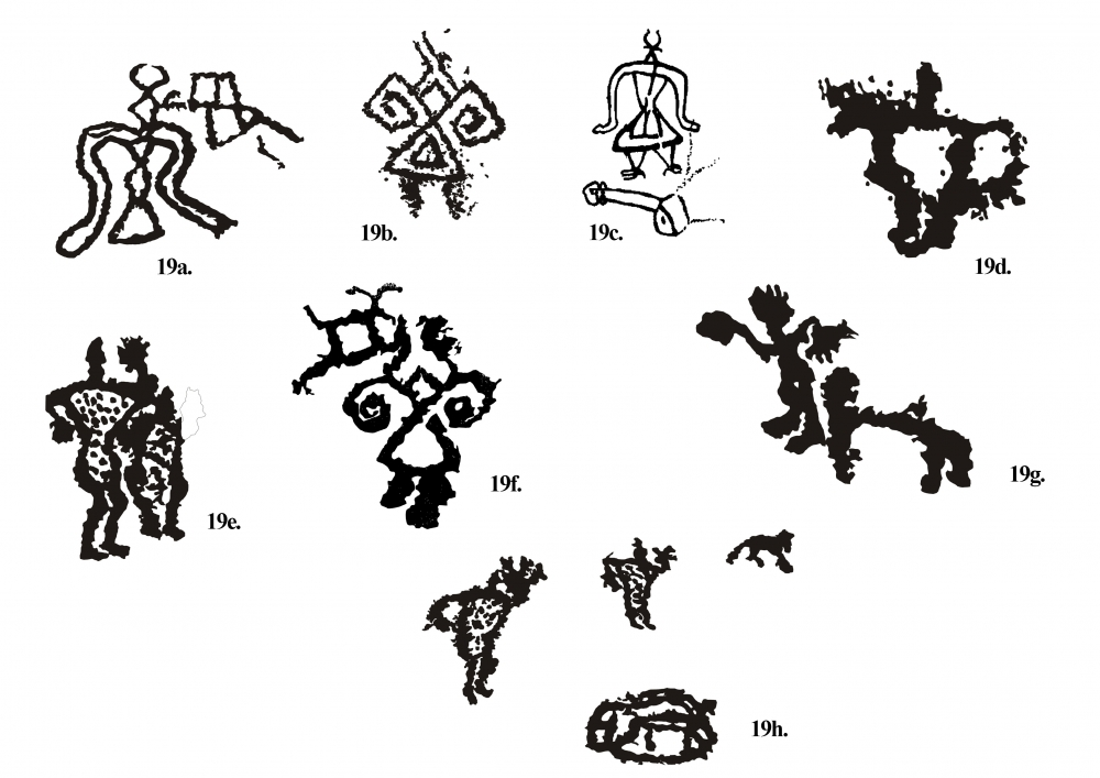 Fig. 19.(a–h) Anthropomorphic forms from Chilling valley are comparatively unique
