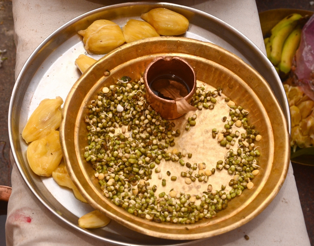Moong sprout for prasad