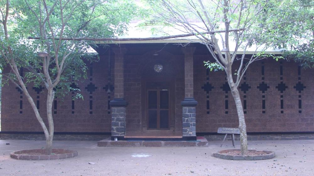 Koothu Kovil or performance space in Adishakti campus (Courtesy: Shrinjita Biswas