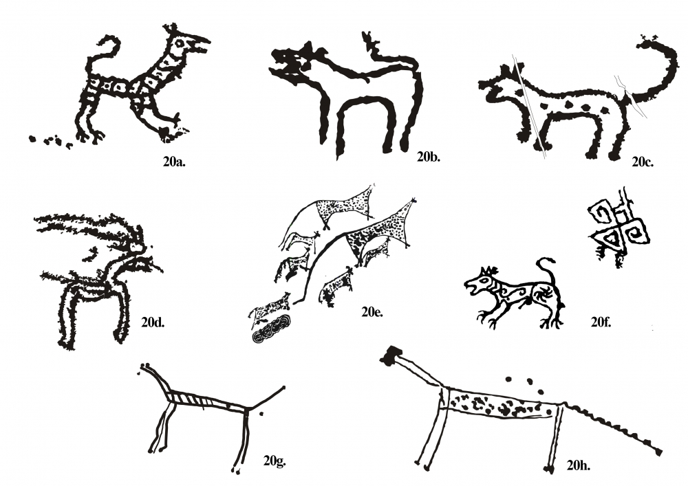 Fig. 20.(a–h) Animals figures of Chilling valley different styles of engravings