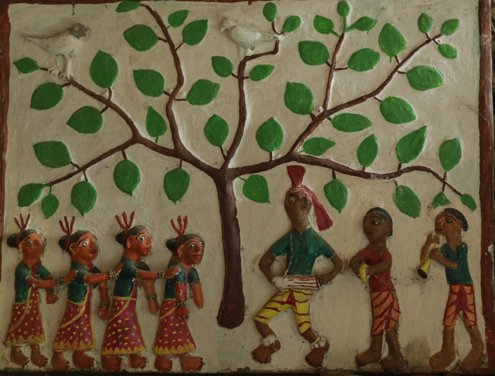 sundari Bai's relief clay work