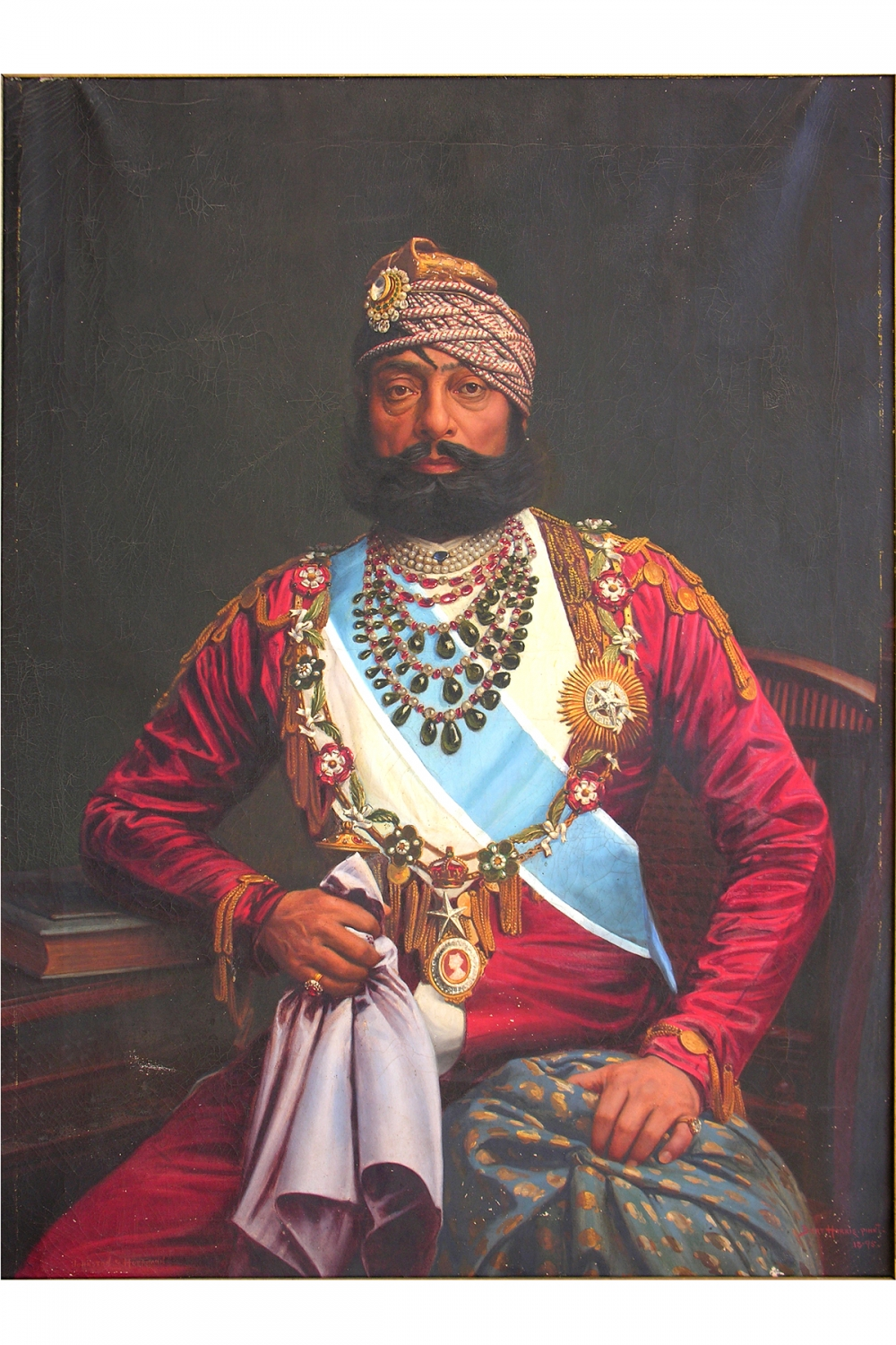A portrait of Maharaja Jaswant Singh II, by Bert Harris (1895, oil on canvas) (Photo courtesy: Mehrangarh Fort Museum via Laura Marsolek, published with permission)