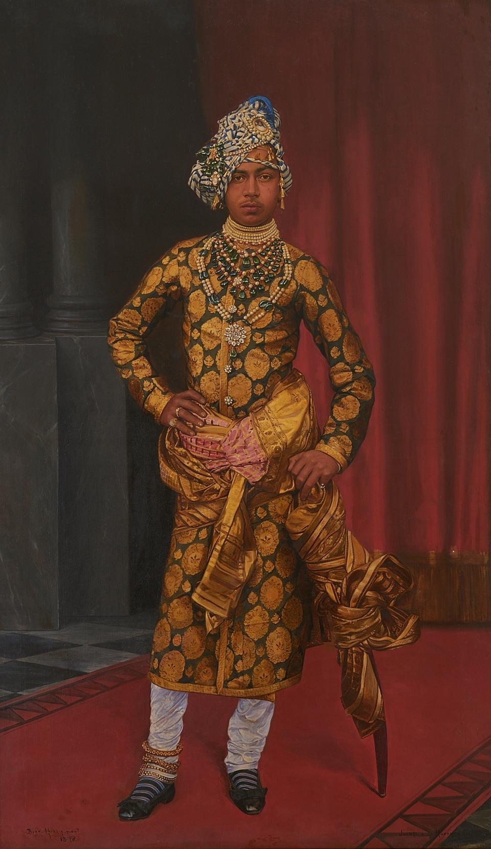 Portrait of Maharaja Sardar Singh, by Bert Harris (1896, oil on canvas) (Photo courtesy: Mehrangarh Fort Museum via Laura Marsolek, published with permission)