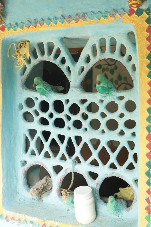 sundari Bai's clay jaali inside her house