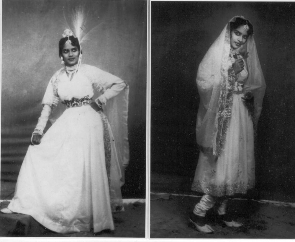 Fig. 6: Mona in Anarkali, a nautanki based on the film Mughal-e-Azam; her costume, gestures, and look took their cue from Madhubala, the heroine of the film. (Courtesy: Mona Devi)