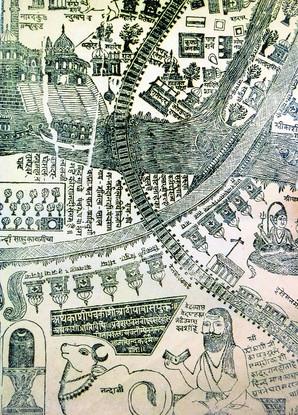 Pilgrimage map of Kashi, B.N. Goswamy, The Tribune