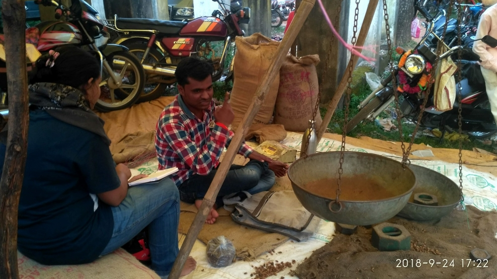 A local trader at the haat