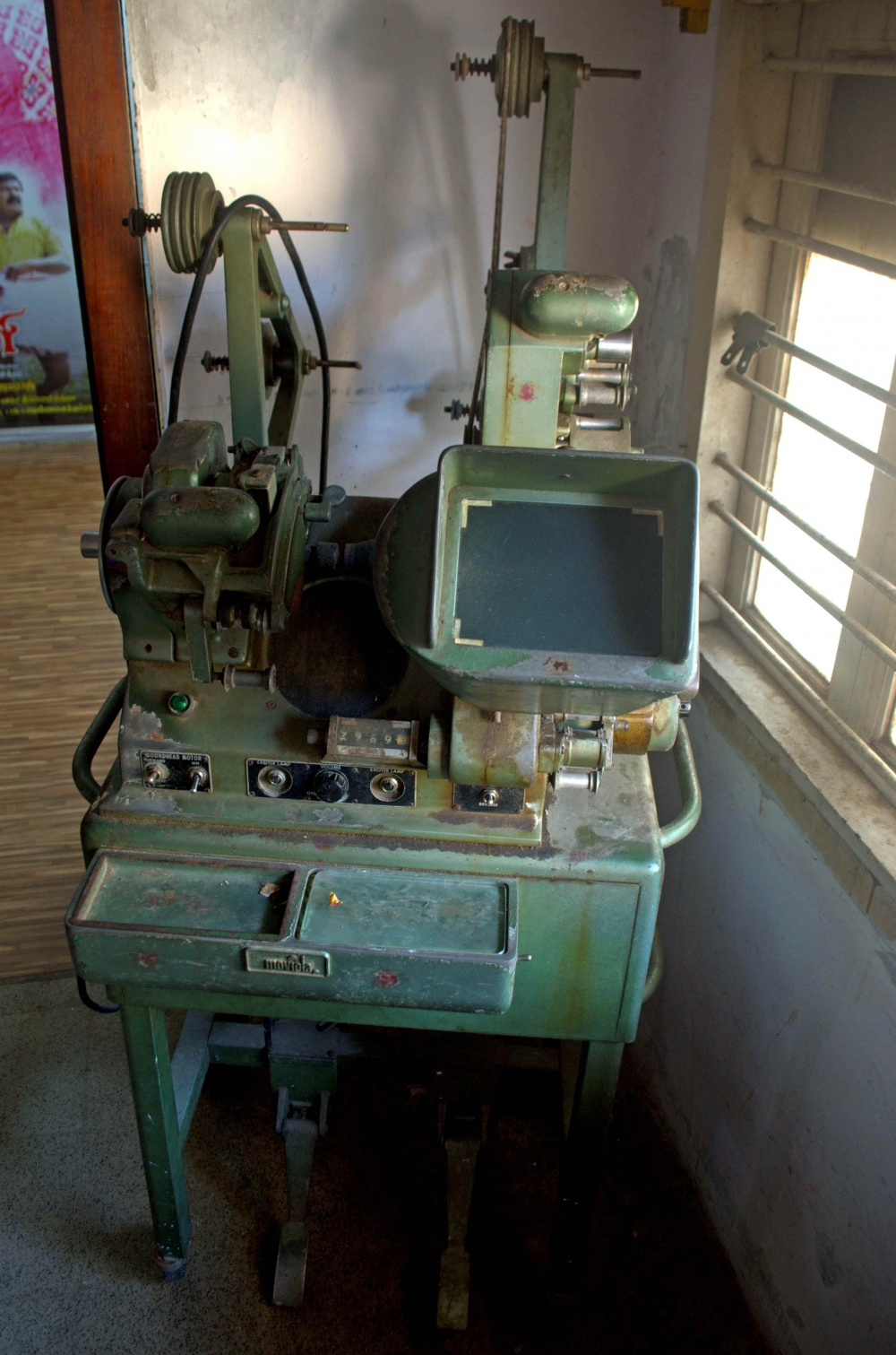 Fig. 6. A Moviola linear editing machine at the AVM Complex (Courtesy: Senjuti Mukherjee)