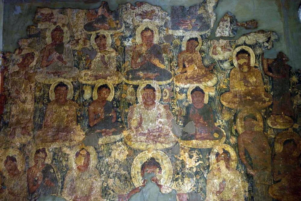 Buddha, Ajanta Painting, Therigatha, Prajapati Gotami