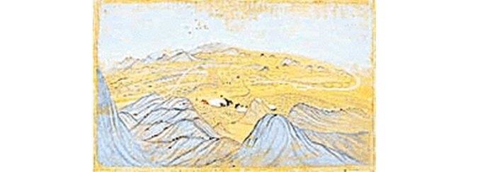 An encampment in the hills_Kutch, ca 1800 (Collection - Prof & Mrs Lutt, Germany)_The Tribune