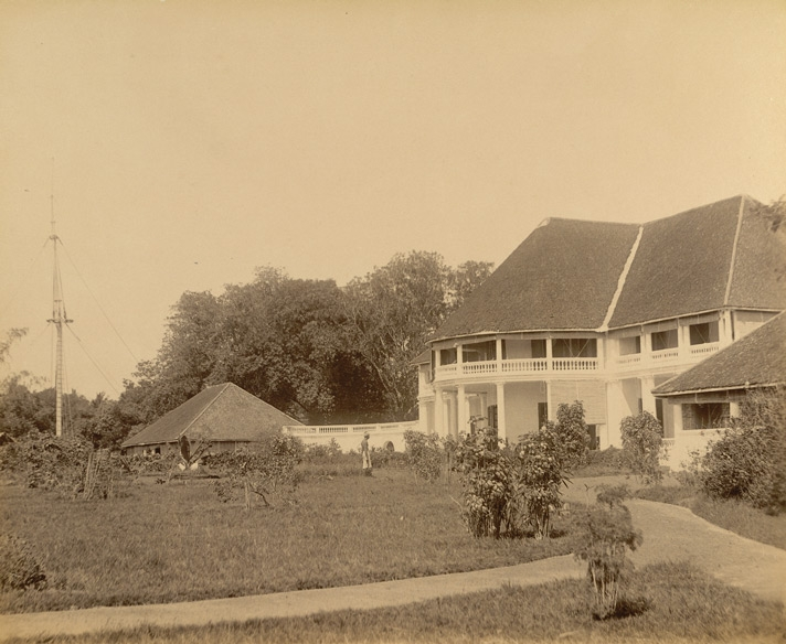 1900s Image of the British Residency at Quilon