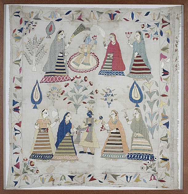 chamba rumal, himachal pradesh craft, rare indian textiles, courtesy: wikimedia commons
