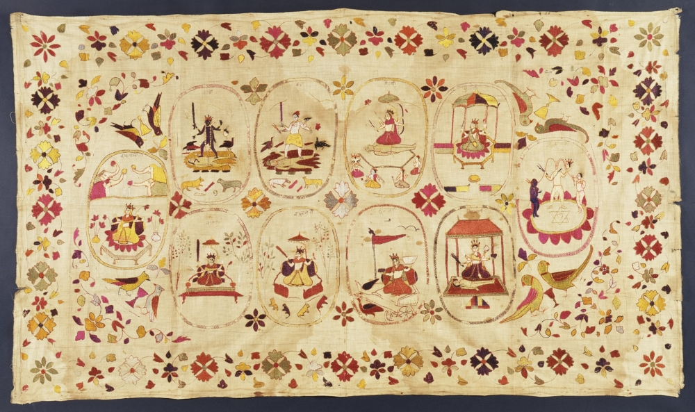 chamba rumal, himachal pradesh craft, rare indian textiles, courtesy: LACMA