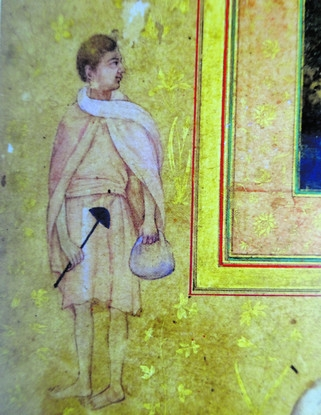 BNG_Figure from the margin of a painting showing a Sufi saint. Mughal. From the Late Shah Jahan album, ca. 1640. Musee du Louvre, Paris