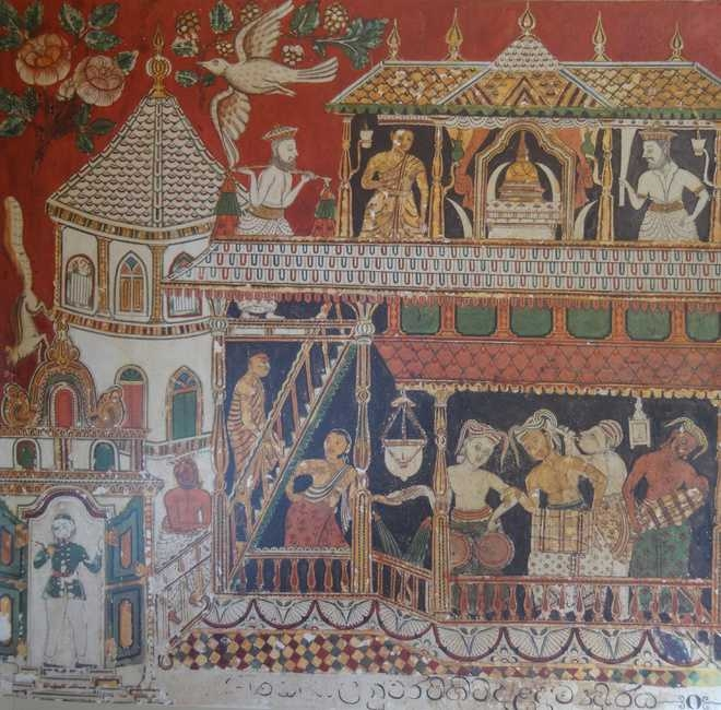 Ivory, ca. 1557; Scene of coronation with Portuguese royal figures. Ivory panel in the Casket (Courtesy: The Tribune)