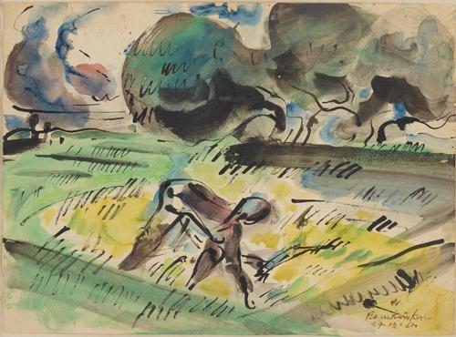 Ramkinkar Baij, Watercolour Painiting