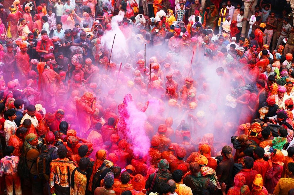 barsana holi, holi festival, holi colours