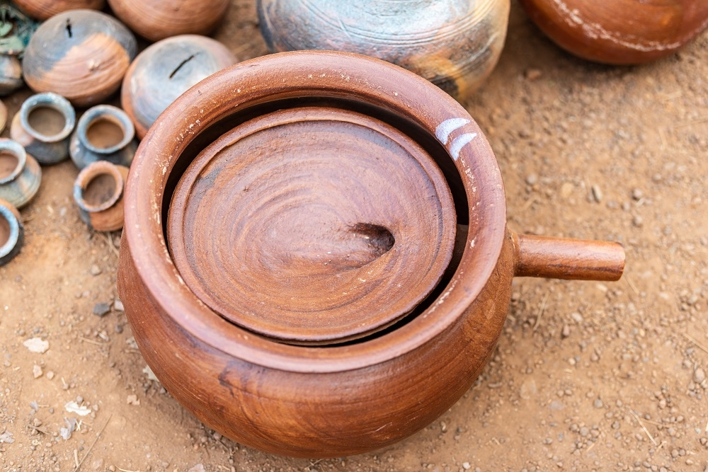 Earthen Vessel Used in Making Alcohol from Mahua