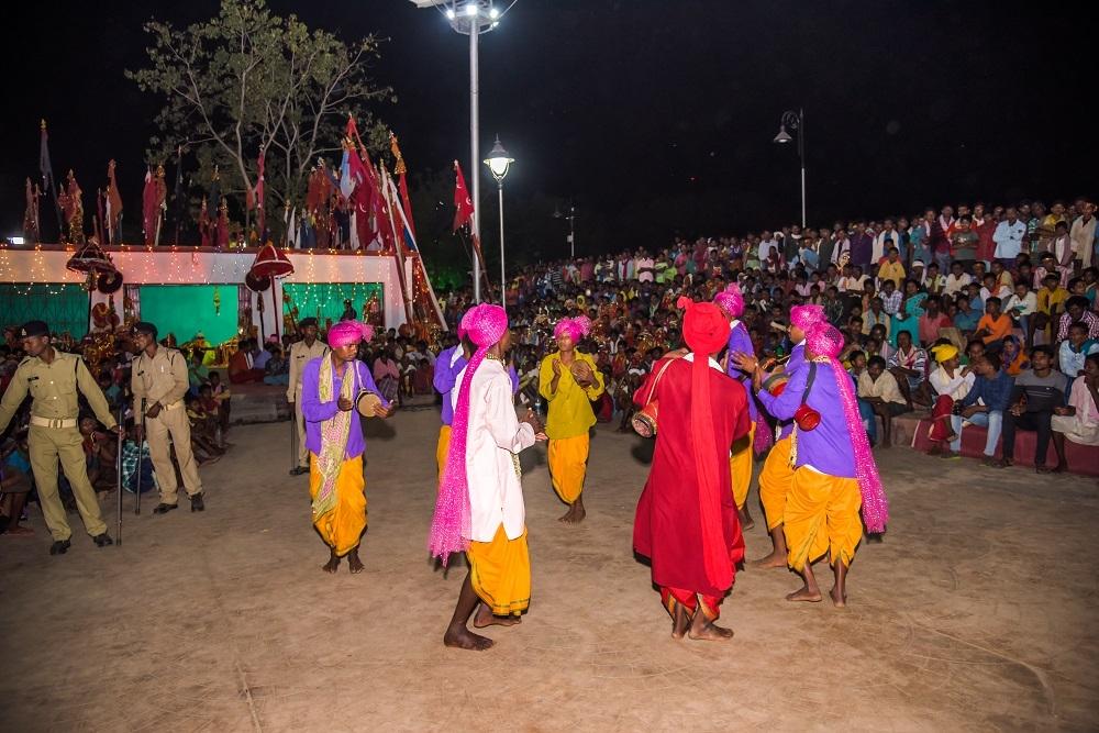 Dance performed in front of Danteshwari