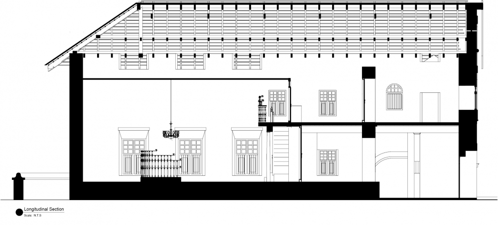 Horizontal Cross Section of the Synagogue