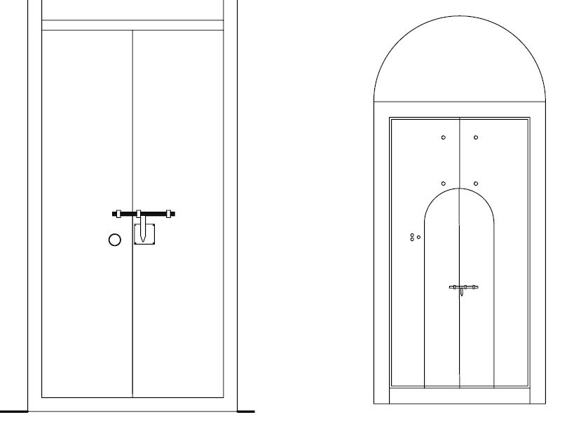 Doors of Chendamangalam Synagogue