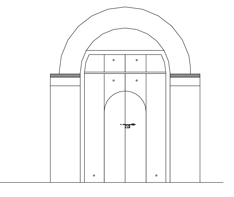 Arch of Chendamangalam Synagogue