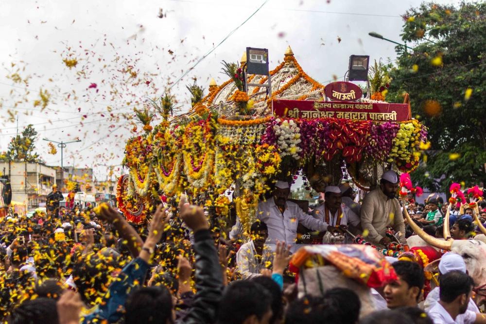 Pandharpur Wari, Indian pilgrimages, Dnyaneshwar Maharaj Palkhi, Dindi or Wari 2018, Courtesy: Nikhilkelkar/Wikimedia Commons