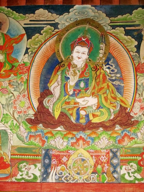 Guru Padmasambhava, who is guru rinpoche, buddhism, buddhist thangka
