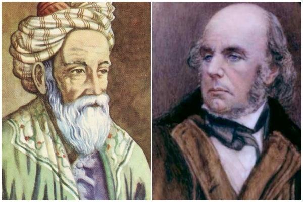 Edward FitzGerald and Omar Khayyam_Public Domain